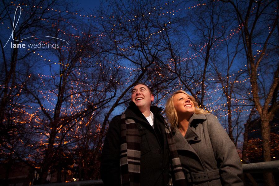 Gene Leahy Mall Christmas Lights engagement